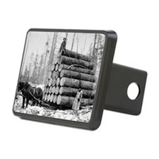 Hauling a Load of Logs Hitch Cover