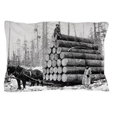 Hauling a Load of Logs Pillow Case