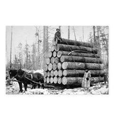 Hauling a Load of Logs Postcards (Package of 8)