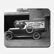 Meat Market Delivery Truck Mousepad
