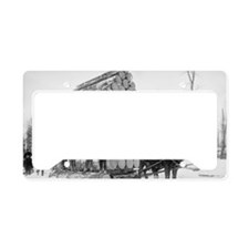Loggers At Work License Plate Holder