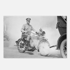 Motorcycle Policeman on D Postcards (Package of 8)