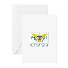 U.S.V.I. Flag Greeting Cards (Pk of 10)