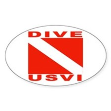 Dive U.S.V.I. Oval Decal