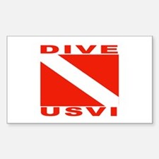 Dive U.S.V.I. Rectangle Decal
