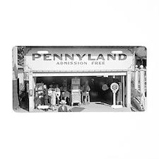 Pennyland Arcade Aluminum License Plate