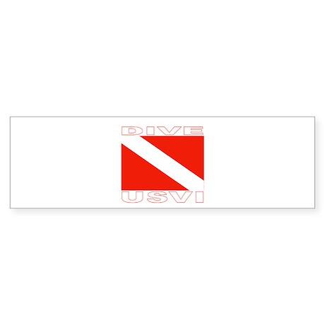 Dive U.S.V.I. Bumper Sticker