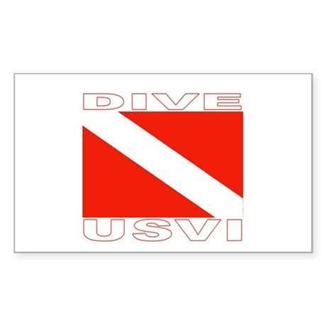 Dive U.S.V.I. Rectangle Sticker