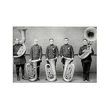Police Band Tuba Players Rectangle Magnet