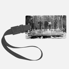 Portrait of Loggers Luggage Tag