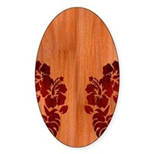 Faux Wood Hibiscus Decal