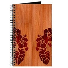 Faux Wood Hibiscus Journal