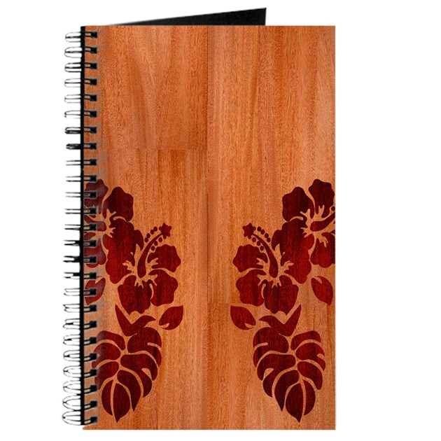 Faux wood hibiscus journal by admin cp10980703 - Faux journal personnalise ...