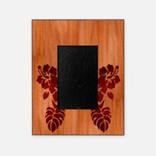 Faux Wood Hibiscus Picture Frame