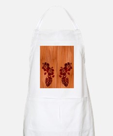 Faux Wood Hibiscus Apron