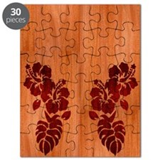 Faux Wood Hibiscus Puzzle