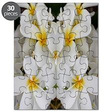 White Hawaii Plumerias Puzzle