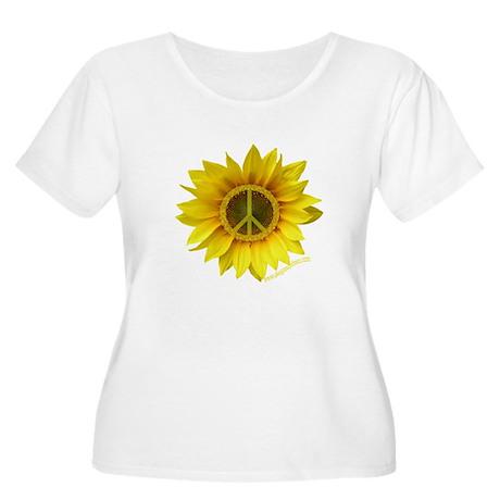Peace Women's Plus Size Scoop Neck T-Shirt