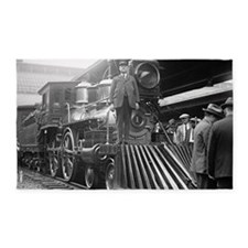 Steam Train at Station 3'x5' Area Rug