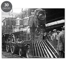 Steam Train at Station Puzzle