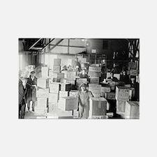 Bootleg Whiskey Warehouse Rectangle Magnet