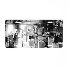Bootleg Whiskey Warehouse Aluminum License Plate