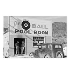 The Eight Ball Pool Room Postcards (Package of 8)