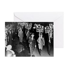 We Want Beer! Protest Greeting Card