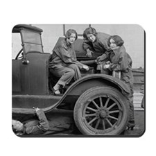 Young Lady Auto Mechanics Mousepad