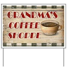 Grandmas Coffee Shoppe Yard Sign