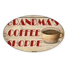 Grandmas Coffee Shoppe Decal