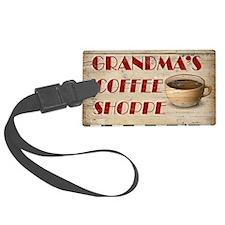 Grandmas Coffee Shoppe Luggage Tag