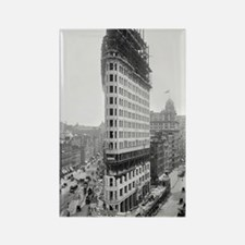 Flatiron Building Construction Rectangle Magnet