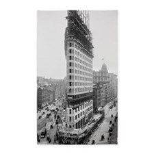 Flatiron Building Construction 3'x5' Area Rug