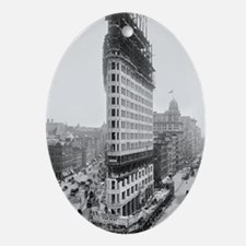 Flatiron Building Construction Oval Ornament
