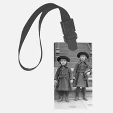 Little Girls with Teddy Bears Luggage Tag