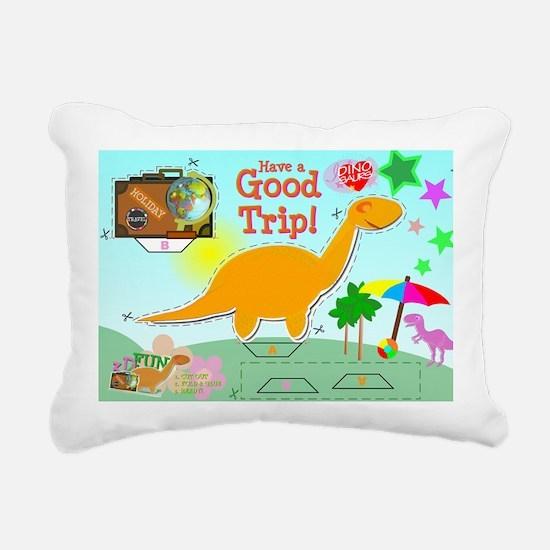 Good Trip Cartoon Dinosa Rectangular Canvas Pillow