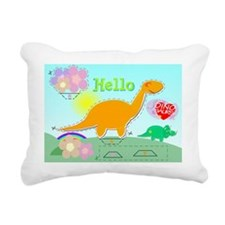 Cute Cartoon Dinosaur Cu Rectangular Canvas Pillow