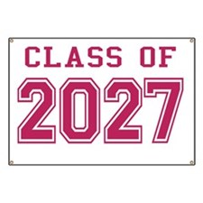 Class of 2027 (Pink) Banner