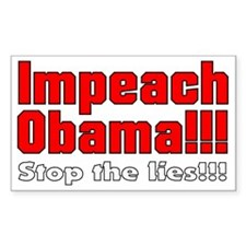 Impeach Obama Stop the lies Decal