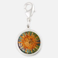 Park Guell Barcelona Silver Round Charm