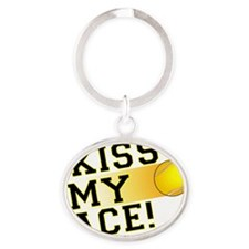 KissMyAce(tennis) copy Oval Keychain