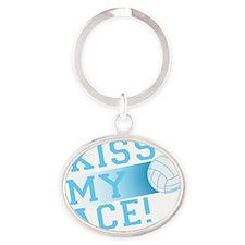 KissMyAce(volleyball) copy Oval Keychain