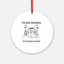 Team Minion Front Round Ornament