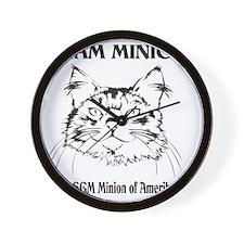 Team Minion Front Wall Clock