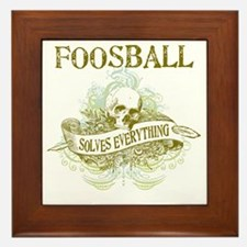 Foosball Solves Everything Framed Tile