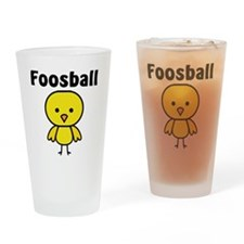 Foosball Chick Drinking Glass