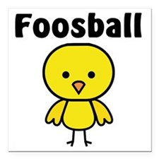 "Foosball Chick Square Car Magnet 3"" x 3"""
