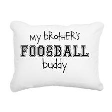 Brothers Foosball Buddy Rectangular Canvas Pillow