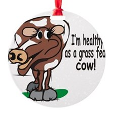 Grass Fed Cow Ornament